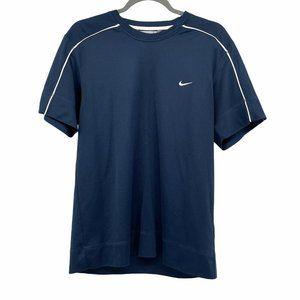 Nike navy blue classic check athletic tshirt